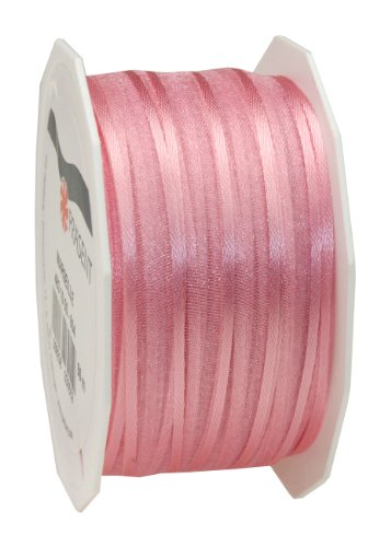 Edge Woven Mm 10 - Präsent C.E. Pattberg 10 mm 50 m Wired Organza Ribbon Marseille, Light Pink