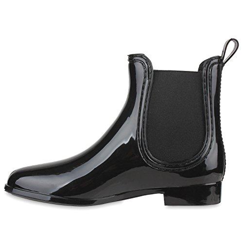 Mujer Botas Stiefelparadies agua Negro de Negro 4npvt1