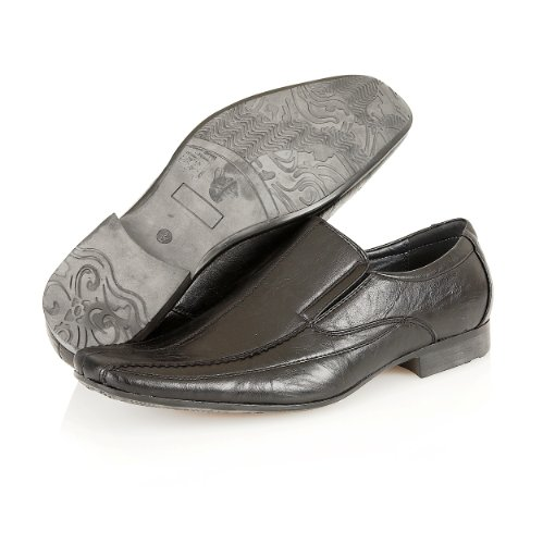 Mens Office Formal Italian Style Designer Smart Dress Wedding Slip On Shoes Size Black 9gz0x