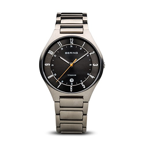 BERING Time 11739-772 Mens Titanium Collection Watch with Titanium Band and scratch resistant sapphire crystal. Designed in - Titanium Scratch