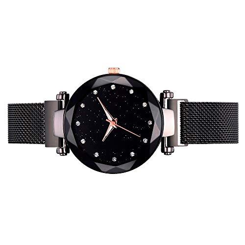 Quartz Mesh Belt Watch, Unisex Business Casual Fashion Date Slim Analog Quartz Watch 【Ship from US Directly】
