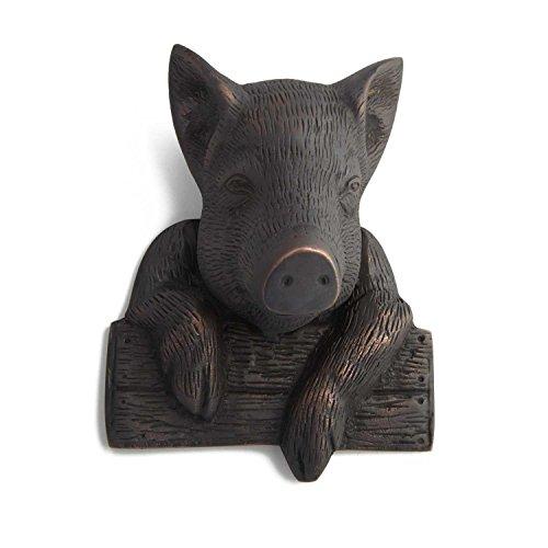 Height Bronze Door Knocker (Casa Hardware Brass Pig Door Knocker - Oil Rubbed Bronze)