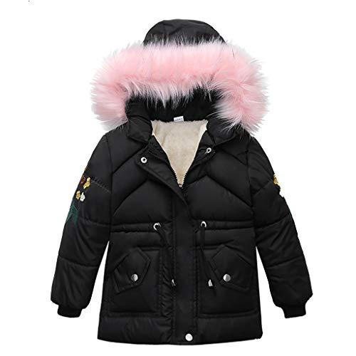 TOTAMALA Winter Children Kids Boys Girl Winter Coats Jacket Zip Thick Plush Cotton Padded Warm Snow Hoodie Outwear