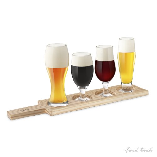 Final Touch Glass 6 Piece Beer Tasting Set