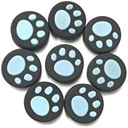 KEHUITONG Nintendスイッチ喜びコンNS NXコントローラーボタンケース猫ポウジョイスティックキャップアクセサリー用10個入りシリコーン親指グリップスティックキャップ (色 : 10pcs Blue)
