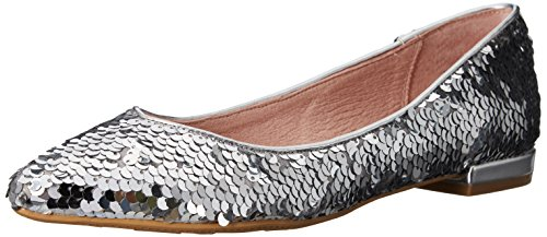 Chinese Laundry Women's Gavin Pointed Toe Flat, Silver Sequins, 6.5 M US