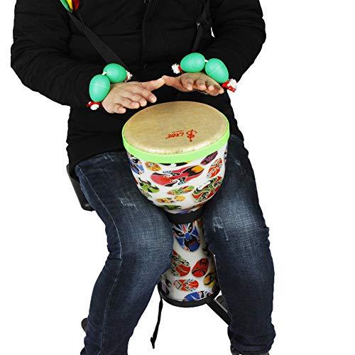 hAohAnwuyg Djembe Drum,Tap Keyboard Instrument,8inch ABS Portable Professional African Djembe Drum Bongo Musical Instrument - 1# ()