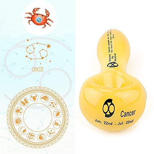 SIGNPIP Glass 4.2 Inches Personalized Zodiac Cancer Design Handmade -