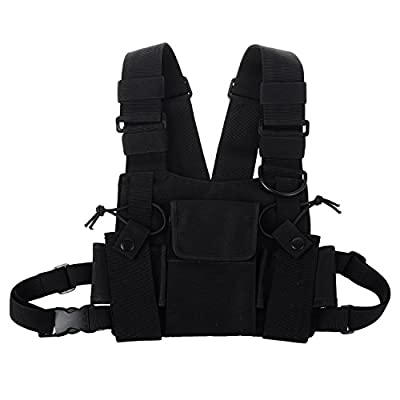 KENMAX Two Way Radio Chest Harness Bags Pack Holster Tactical Vest (Rescue Essentials)