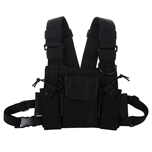 KENMAX Two Way Radio Chest Harness Bags Pack Holster Tactical Vest (Rescue Essentials) ()