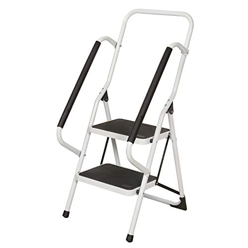 Support Plus Folding 2-Step Safety Step Ladder with Padded Side Handrails (Costco 2 Step Ladder)