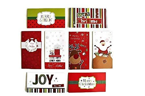 (32 Christmas Money Checks & Gift Card Holders With Envelopes - Assorted Holiday Designs with Foil and Glitter)