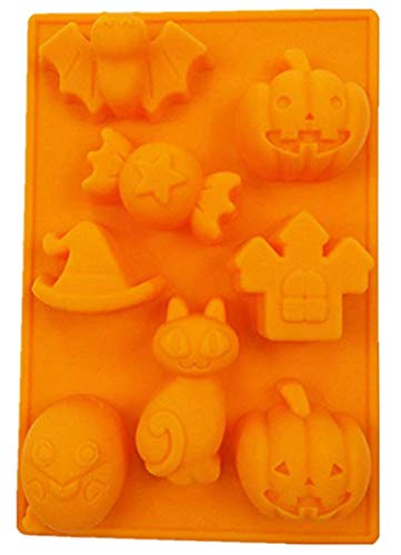 - Kisweet Silicone Halloween Ghost Skulls Pumpkin Baking Mold Candy Soap Ice Molds 5.6