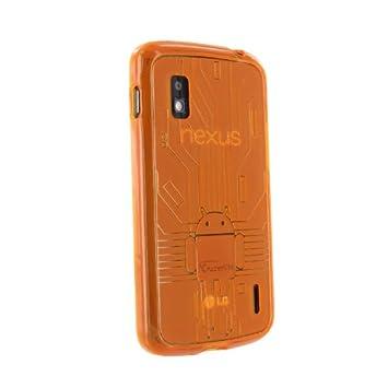 CruzerLite - Carcasa de TPU para Google Nexus 4, diseño de circuitos con logo de Android