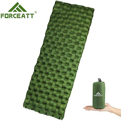Forceatt Isomatte Camping selbstaufblasend, Wasserdicht, feuchtigkeitsbeständig und reißfest,Ultraleichte Isomatte Kleines Packmaß für Trekking, Backpacking, Camping, Strand