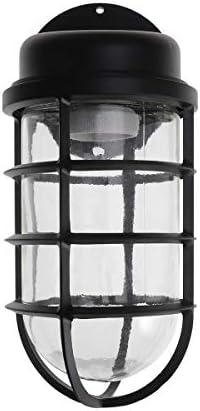 OSALADI Retro Eisen Wandleuchte Wandleuchte eisenkäfig lampenschirm für Cafe Gang bar Garage straße (schwarz)