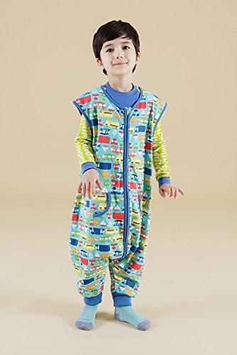 Vaenait baby Kids Boys Double-Layered Cotton Wearable Blanket Sleeper Sleep Travel S by Vaenait baby (Image #2)