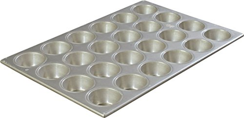 Carlisle 601840 Steeluminum 24 Cup Heavy Duty Cupcake Pan, 20.63 inch Length x 14.12 inch Width, 3.5-oz Capacity (Case of 6)