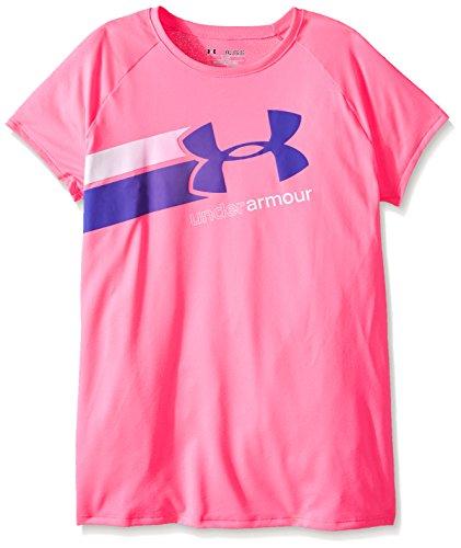 Under Armour Mädchen Fitness T-Shirt und Tank Fast Lane Short Sleeve T, Pink Punk, YSM, 1272085