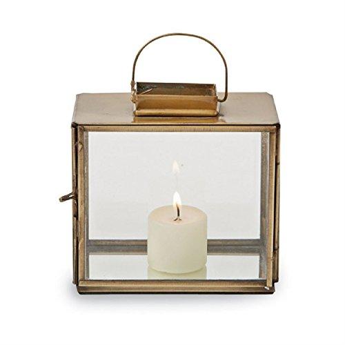 Mud Pie Mini Brass Lanterns/Candle Holder, (Lanterns Candles Brass For)