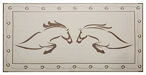 Reversible Mats 219187 Brown/Beige 9'x18' Duo Horse Mat