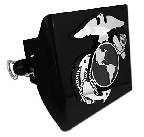 Elektroplate US Marine Corps Insignia Trailer Hitch Cover with Pin Included (Officially Licensed)