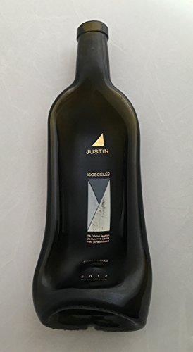 Wine bottle - gently slumped into a bowl or spoon rest - Justin Isosceles Cabernet Bottle