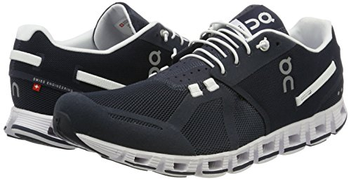 ON Cloud Road Running Shoes Olive/Flame Mens Blu (Navy / White)