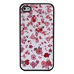 SJT sold out Cartoon Style Flowers Pattern Hard Case for iPhone 4 and 4S