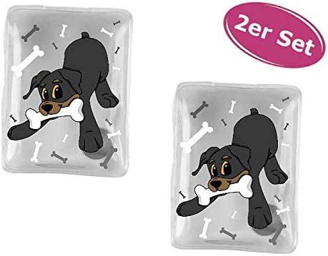 Wichtelgeschenk Taschenheizkissen 2er Set Taschenw/ärmer Hund Rottweiler Handw/ärmer