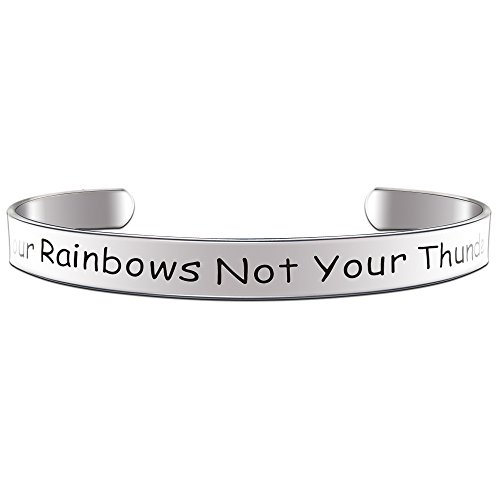 Paris Selection Inspirational Bracelet Count Your Rainbows Not Your Thunderstorms