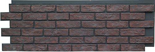 NextStone Faux Polyurethane Brick Panel - Antique Red - Box of 4 Panels