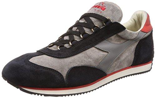 Diadora Heritage - Sneakers Equipe S. SW per Uomo e Donna C6344 - Mrrn Pino-nero-rosso Boreale