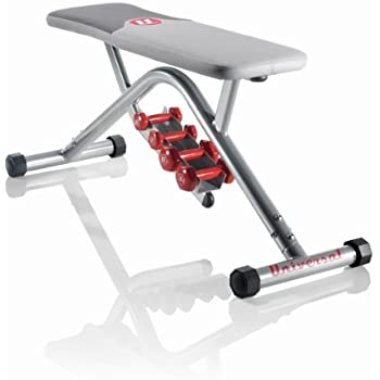Universal Flat Bench with Dumbbells