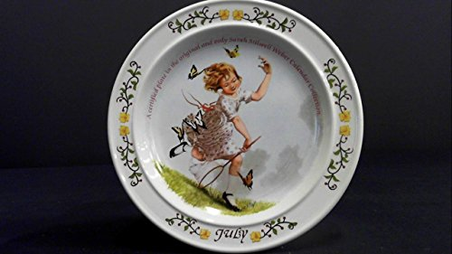 July 1984 Collector Plate From The Sarah Stilwell Weber Calendar Series- 7