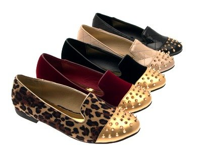 Leopard WOMENS SLIPPERS STUDDED BALLET NEW GIRLS Suede PUMPS MUKES LADIES SPIKE SHOES Outlet FLATS 3 8 LD STUDS LOAFERS tYwETq