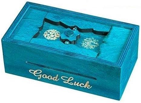 Philos Philos-5527 Caja Secreta, diseño de Puzzle Griego, Color Azul (595527): Amazon.es: Juguetes y juegos
