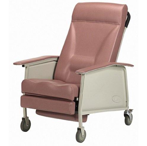 Deluxe 3 Position Recliner Fabric: Rose Wood, Size: Wide