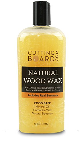 Cutting Board Wax and Conditioner, Protects Wood Countertops and Butcher Blocks - Made in USA with Real Beeswax (1) ()