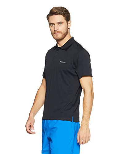 Columbia Men's New Utilizer Polo, Black, Medium