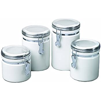 red kitchen canisters ceramic anchor hocking 03923red ceramic canister 4pc 21439