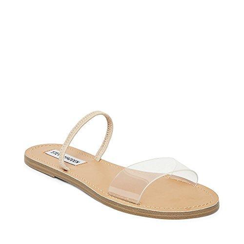 Steve Madden Women's Dasha Flat Sandal, Clear, 10 M US - Shoes Clear Slide