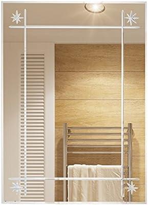 ZfgG Rectangular Espejo montado en la Pared, Simple Espejo Moderno Cuarto de baño, Espejo del baño: Amazon.es: Hogar