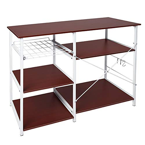 Alalaso Multifunctional Kitchen Rack Microwave Oven Floor Shelf Storage Storage Cupboard