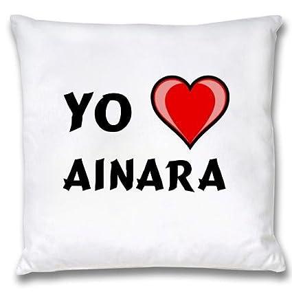 Ropa de almohada blanca con Amo Ainara (nombre de pila/apellido/apodo)