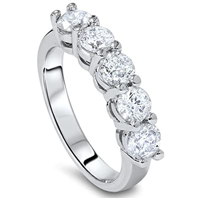 ring shadow platinum me stone diamond ctw in rings women band wedding s bands five