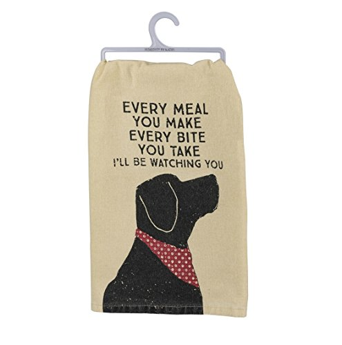 (Primitives by Kathy Pet Love Cotton Dish Towel (Watching You))
