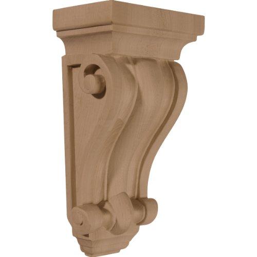 Ekena Millwork CORW05X03X09COCH 5-Inch W x 3 1/4-Inch D x 9 1/2-Inch H Cole Pilaster Wood Corbel, Cherry