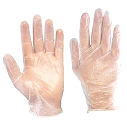 LOWPRICE ONLINE Plastic Food Service Hand Protective Disposable Gloves (Clear) - 100 Pieces