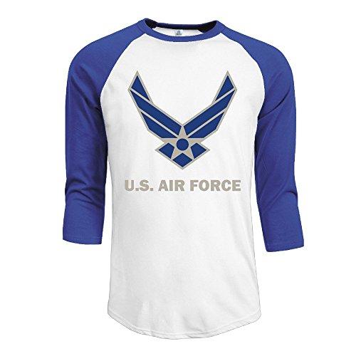Men's United States Air Force Symbol 3/4 Sleeve Raglan Baseball T Shirt
